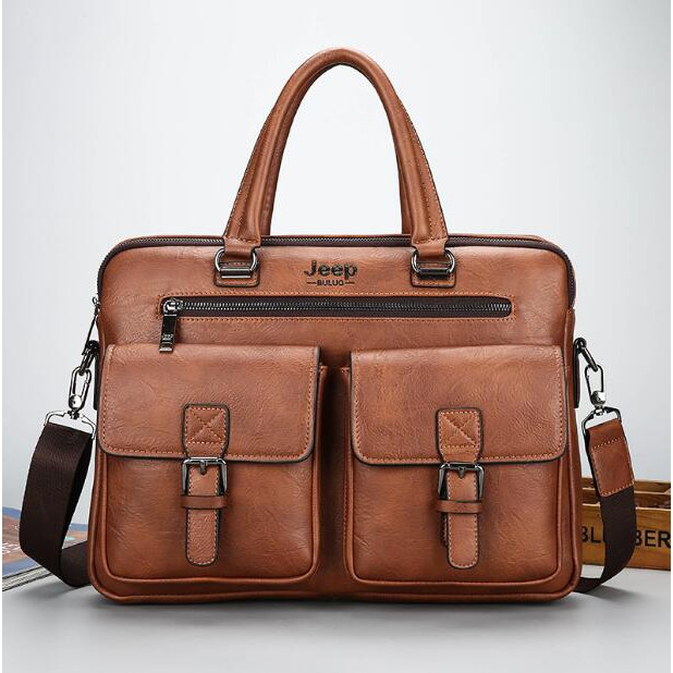 2022e2a622 Business Men bags Laptop Tote Briefcases Crossbody bags Cow Genuine Leather  bag