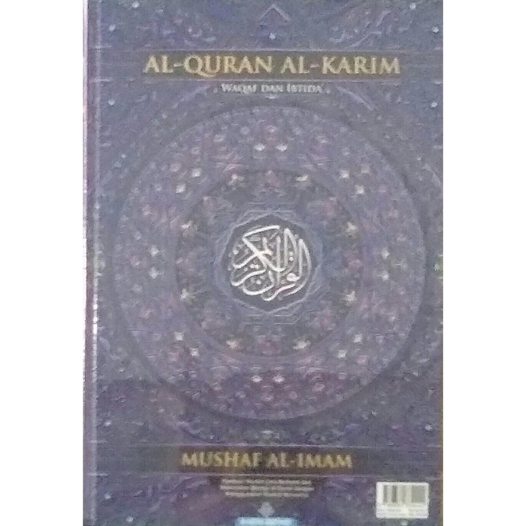 Al-Quran Mushaf Al-Imam Dengan Waqaf Ibtida' Tajwid Berwarna Saiz Besar B4 - Karya Bestari