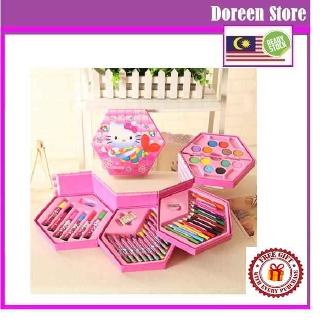 46 Color Coloring Set Hello Kitty/ Spiderman/ Barbie/ Frozen/ Princess