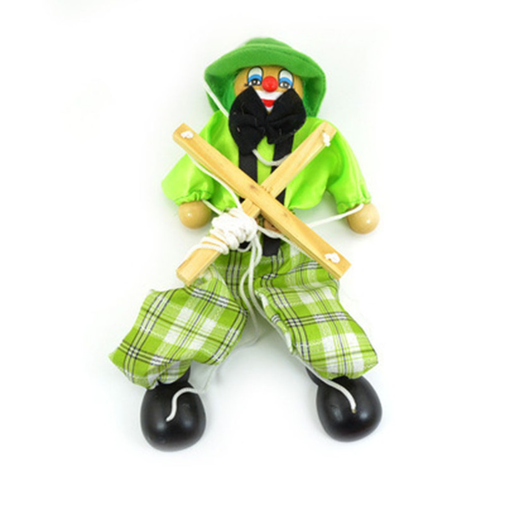 25cm Hand Finger Puppets Clown Toy Joint Activity Doll Vintage Funny Class Toy X