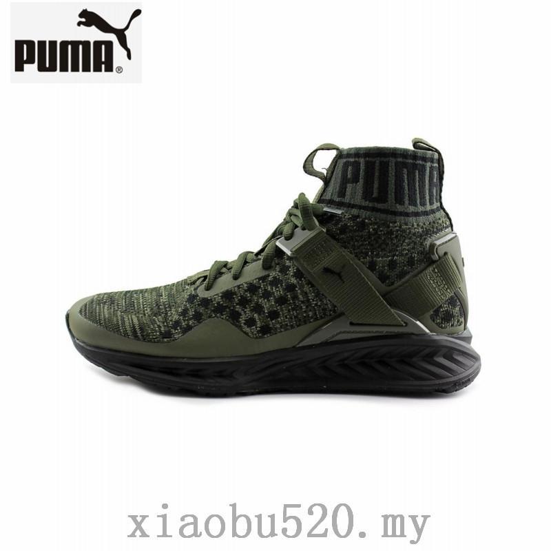 gekke prijs groothandel sportschoenen New Arrival PUMA Ignite 3 evoKNIT Men Women Shoes lace Up Green Sneaker  36-44