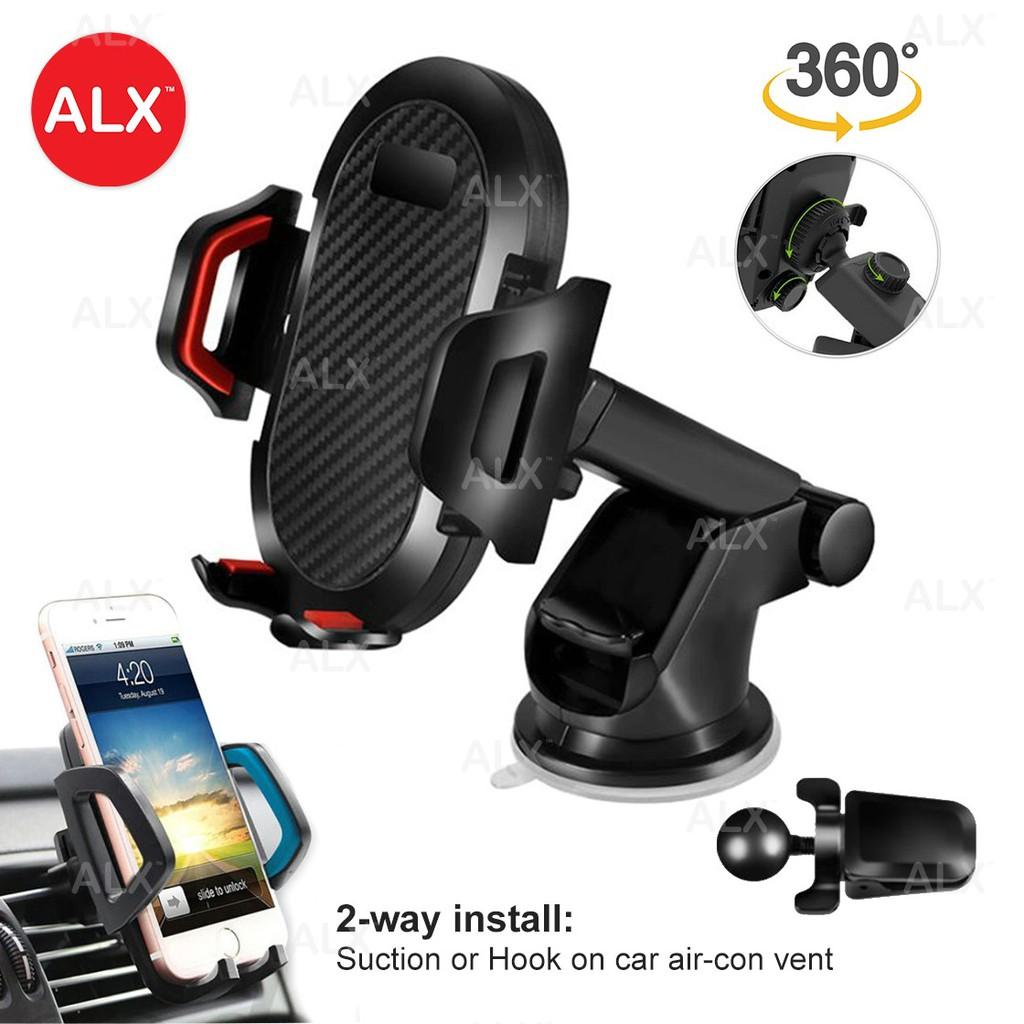 Adjustable 360 Rotating Windshield Dashboard Hook Phone Car Holder Mount  GPS 02