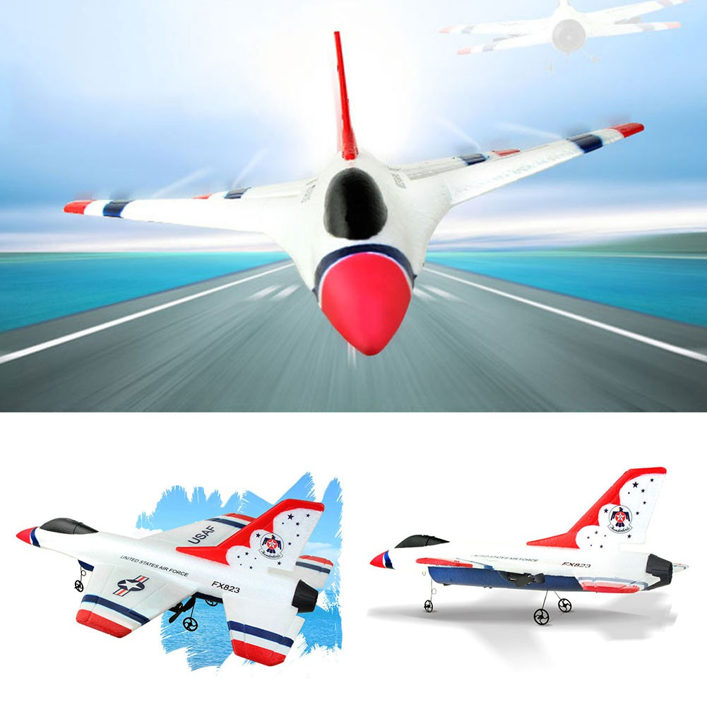 Fx-823 Rc Remote Control Helicopter Plane Glider Airplane Epp 2Ch 2 4G