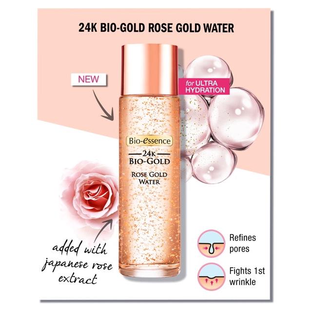 Bio Essence 24K Bio-Gold Rose Gold Water 100ml Radiance Cleanser 100g Combo  Set   Shopee Malaysia