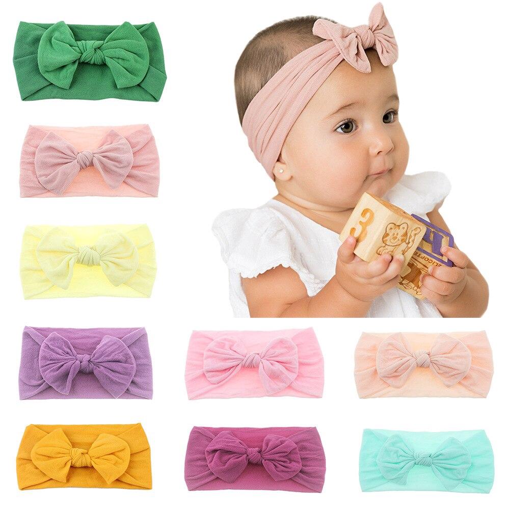 Infant Turban Headband Babies Girl Knotted Hair Wraps Rabbit Ear Headwrap Newborn Hair Accessories
