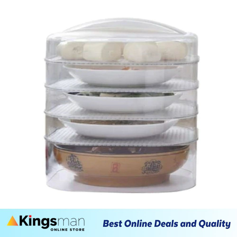 [Kingsman] Food Cover Stackable Transparent 5 Layer Cover Dustproof for Home Kitchen Ready Stock FREE S hook x 4