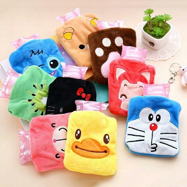 Hello Kitty Doraemon Stitch Minion Bear Cute Cartoon Hot Warm Bag Pocket