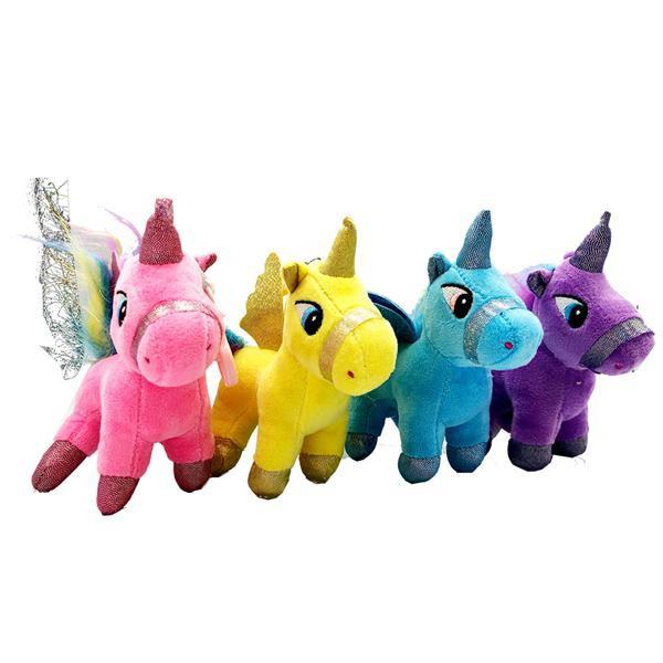 Unicorn Toy Pony 4inch X 4 Toys (4 Colors)