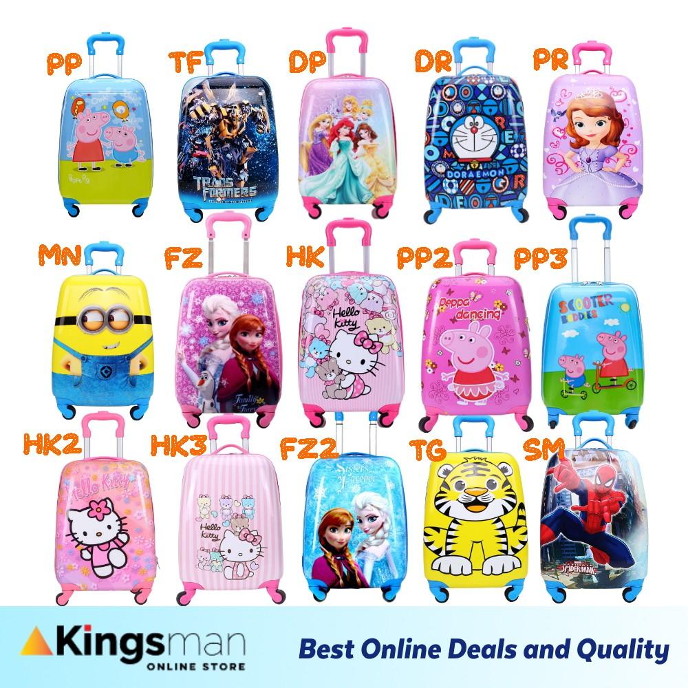 [Kingsman] 18inch 4 wheel PC Egg Shell Cartoon Kids Luggage