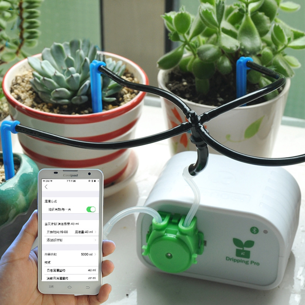 Mini Indoor Smart Usb Pot Plants Timing System Automatic Self Watering Diy Phone Control Drip Irrigation Kit