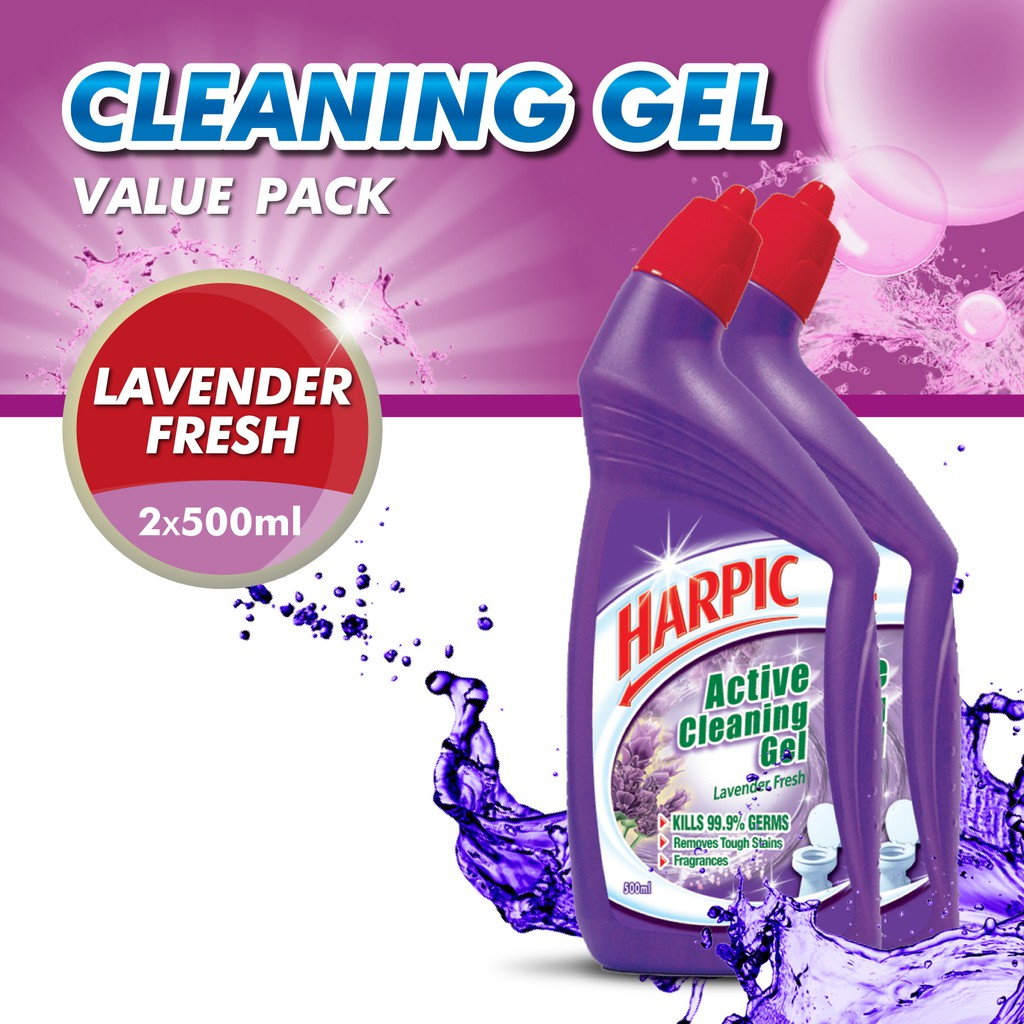 Harpic Lavender Active Cleaning Gel 500ml Shopee Malaysia