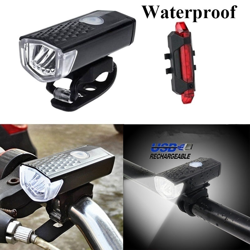 3 Modes LED USB Rechargeable Bycicle Light Headlamp Headlight Bike Front Lamp *1