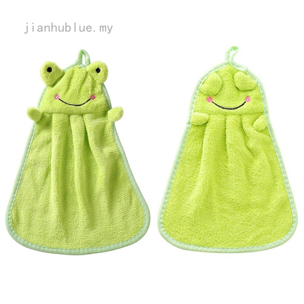 Home Poly Kitchen Fleece Bow Knot Utility Hanging Hand Dry Velvet Towel/_