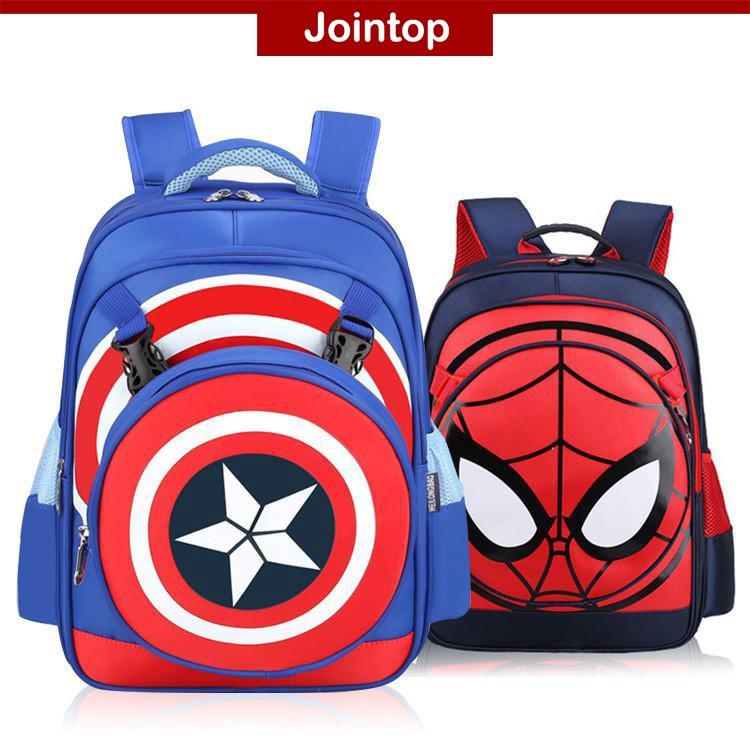 0d55d558c878 Waterproof Kids School Bag Beg Sekolah America Captain Cartoon Backpack  Ransel