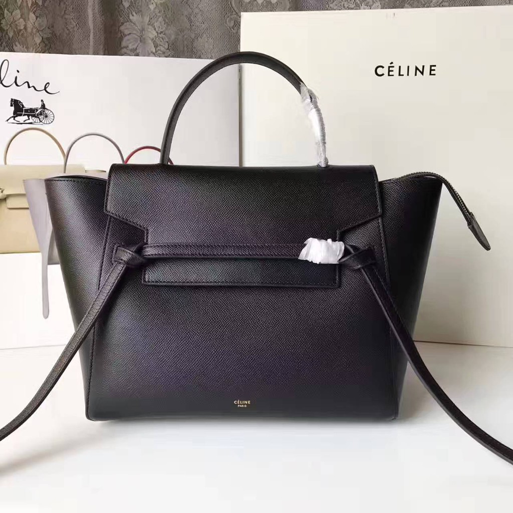 c495d65706 Celine Mini Belt Bag In Black Grained Calfskin