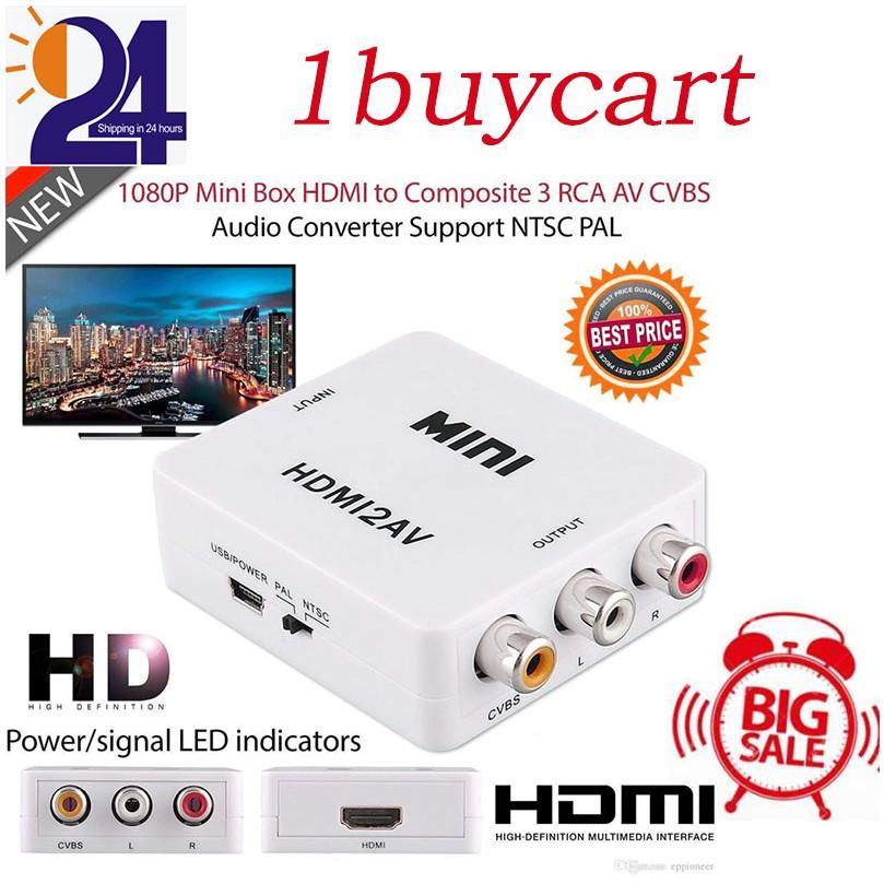 Digital HDMI to RCA Composite Video Audio AV CVBS Adapter Converter  720p/1080p