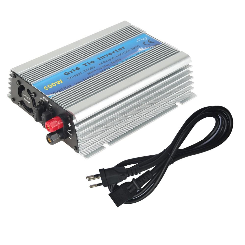 Grid Tie Inverter DC22V-60V to AC 230V Solar Inverter 600W Pure Sine Wave M