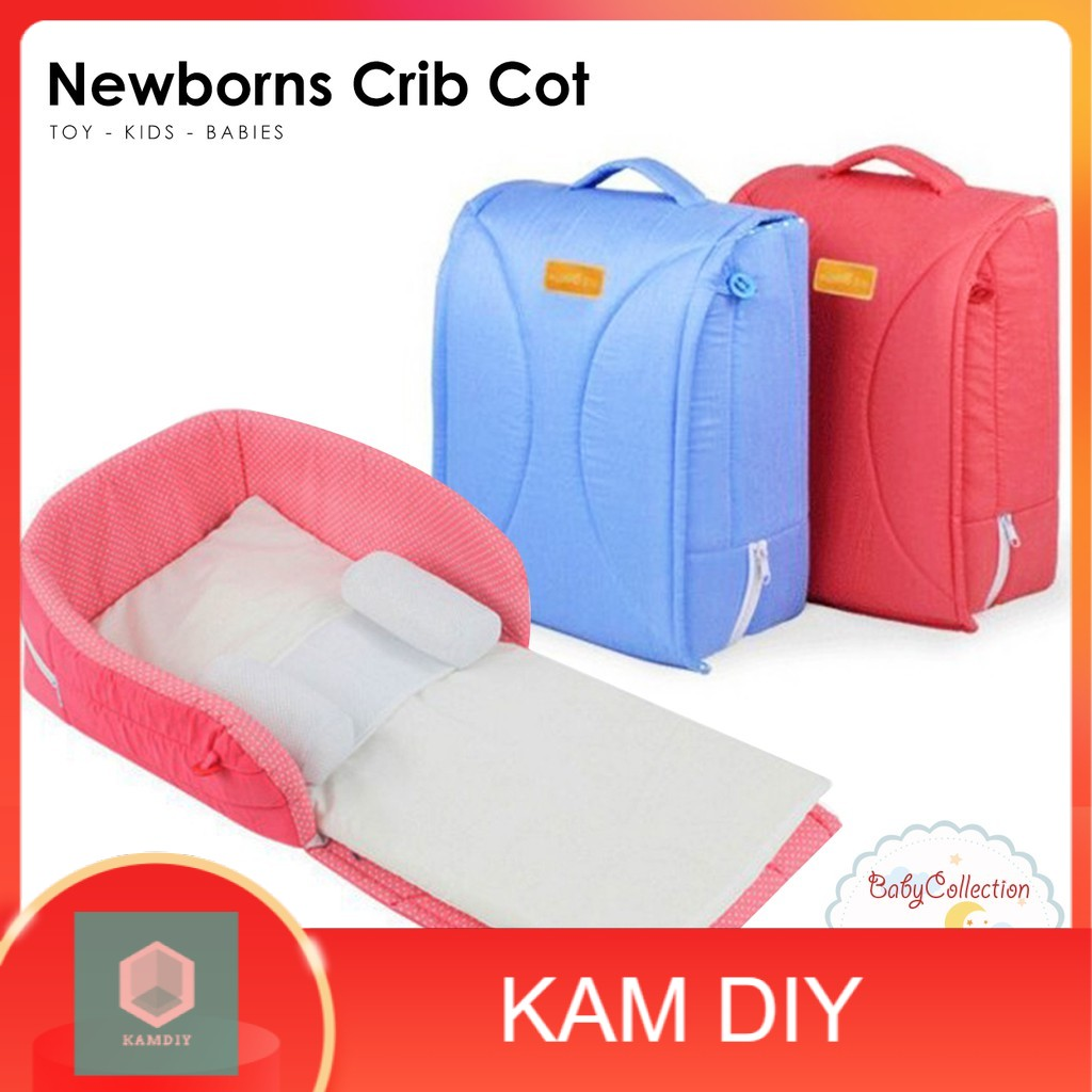 Portable Baby Travel Bed Infant Sleeper Newborns Crib Cot 002
