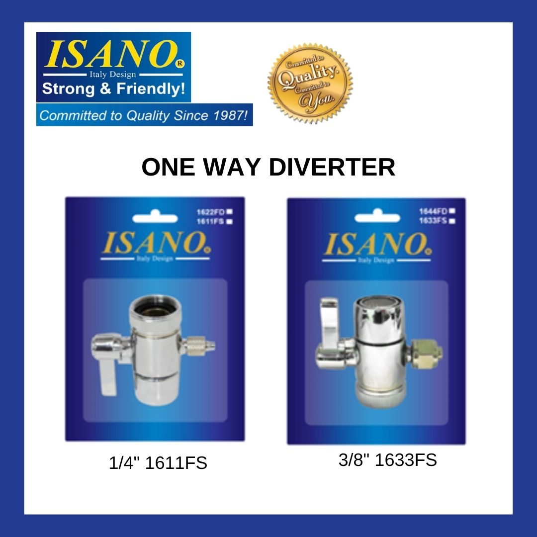 "ISANO 1611FS / 1633FS 1/4""  / 3/8""  Diverter"