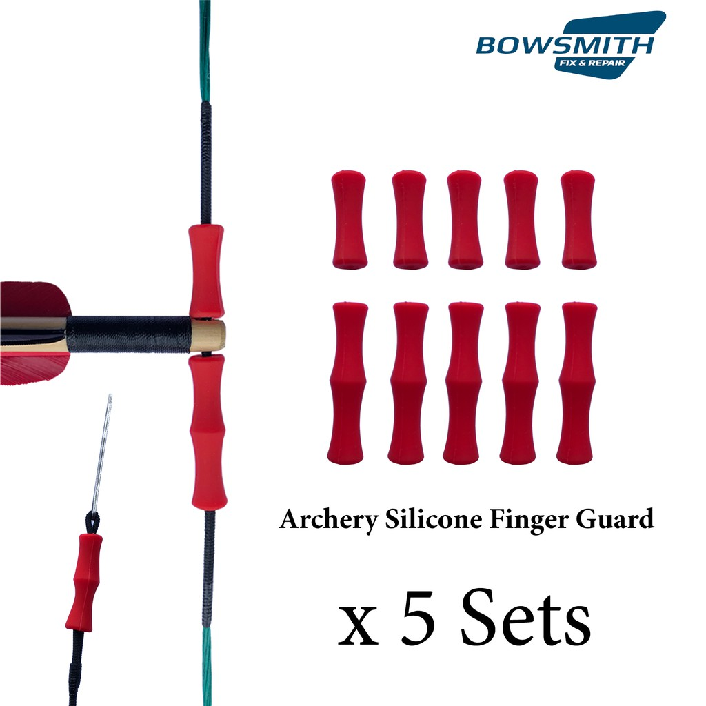 Archery Finger Guard Silicon Protector Arrow Bow String Finger Tab by Arrouha