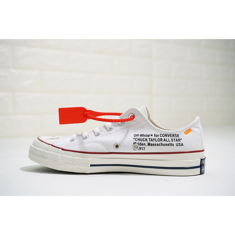 82a6aab282bc Off-White x Converse Chuck Taylor All Star 1970s Unisex Low Sport Shoes