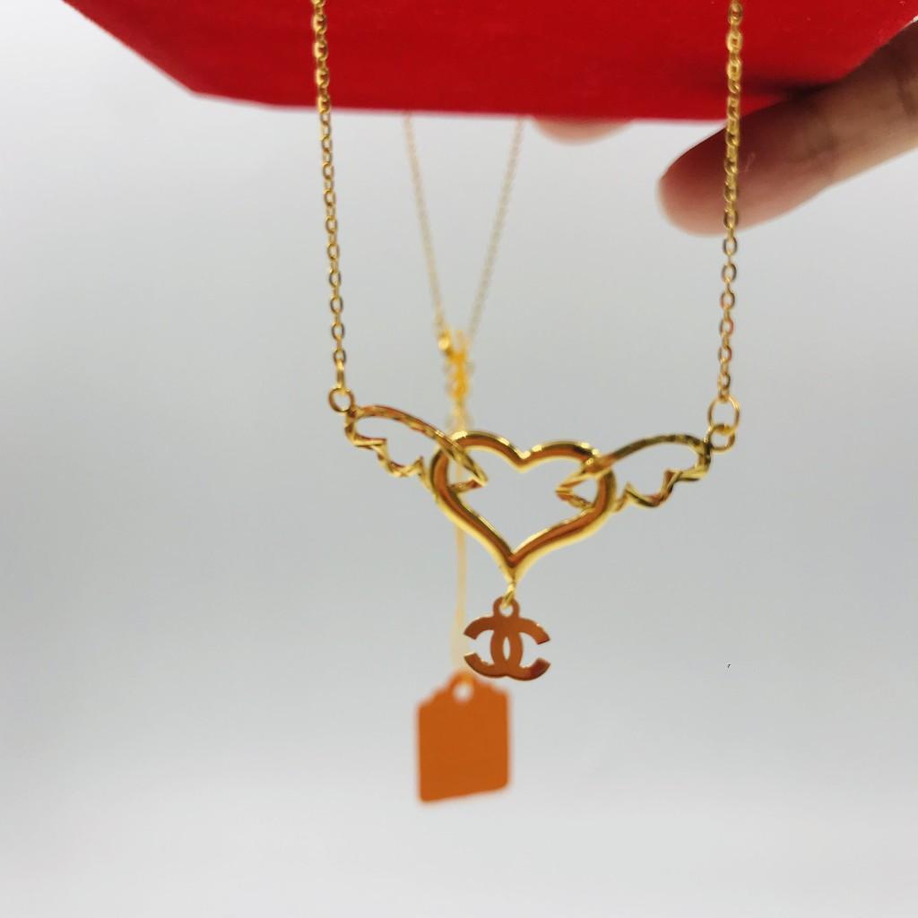 Rantai Leher Fashion Siri Love/Love Series Fashionable Necklace (Emas 916)