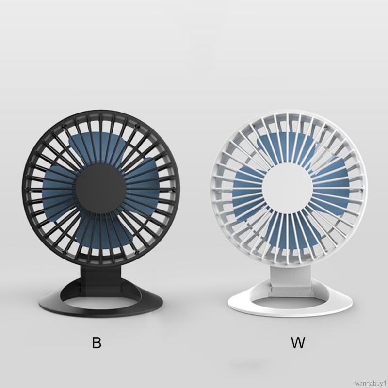 Air Cooler Handheld Personal Fan Mini USB Rechargeable Desktop Fan Mute Portable Electric Fan Detachable Base Color : 09