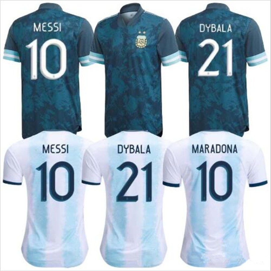 Copa America 2020 2021 Argentina Jerseys Messi Dybala Di Maria Aguero Higuain Soccer Shirt Home National Team 20 21 Football Jerseys Shopee Malaysia