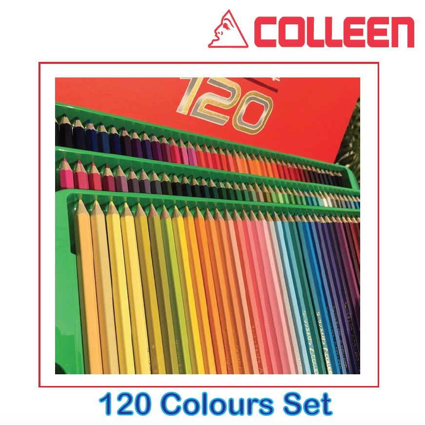 COLLEEN COLORED PENCIL 120 COLORS HIGH QUALITY NON TOXIC ...