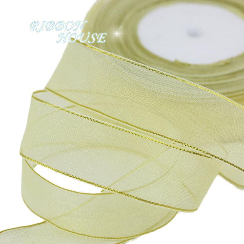 10mm// 20mm// 25mm Sheer Organza Ribbon 12 Kinds Colour YG