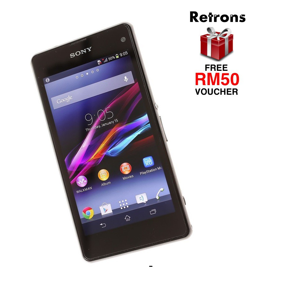 """Original Used Sony Xperia Z1 Compact D5503 LTE 4.3"""" LCD 16GB + 2GB RAM"""
