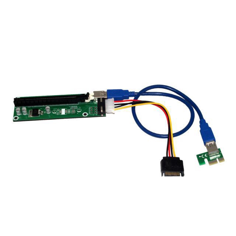 PCIE 1X to 16X Adapter Graphics Card Extension Cable For PCI-E Slot