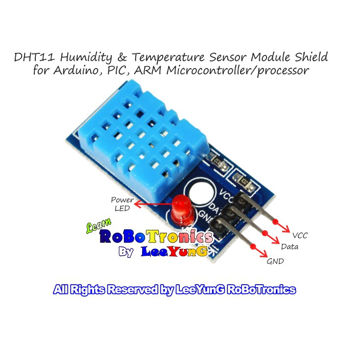 DHT11 Humidity and Temperature Sensor Module 2-in-1 for Arduino Raspberry Pi