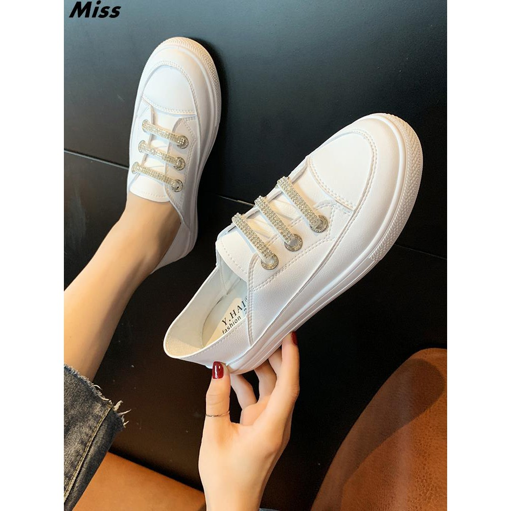 2019 summer new Korean casual white shoes chic net red fashion thick bottom rhin