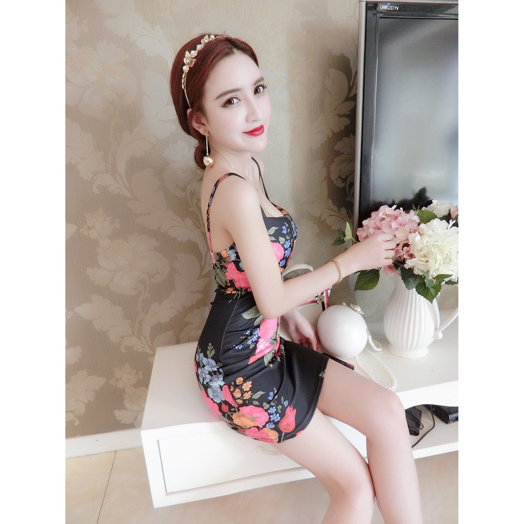 Women Luxury Elegant Sexy Dress/Dinner/Prom/Pub/Clubbing Short Dress/ 夜店吊带短裙连衣裙