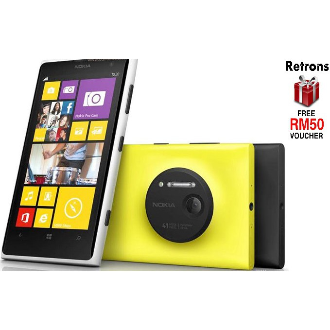 Original Nokia Lumia 1020 New Imported Old Stock [1 Month Warrany by Retrons] FREE RM50 Voucher
