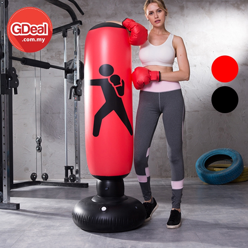 GDeal Vertical Inflatable Boxing Column Training Fitness Boxing Punching Bag MMA Kick Martial Training