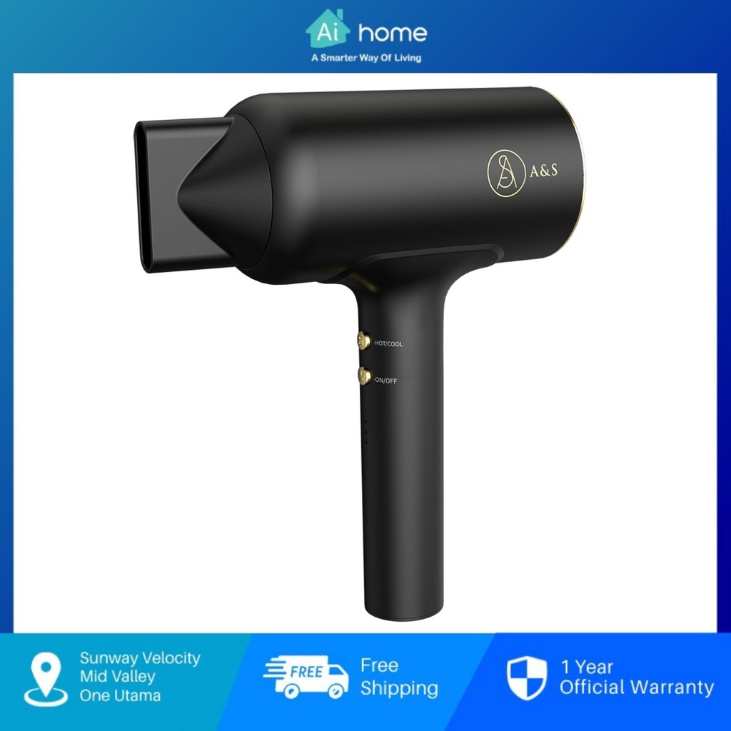 A&S HD100 Style Cordless Rechargeable Hair Dryer - Wireless | Rechargeable | Anti Radiation | Hot & Cold | 20Min Aihome
