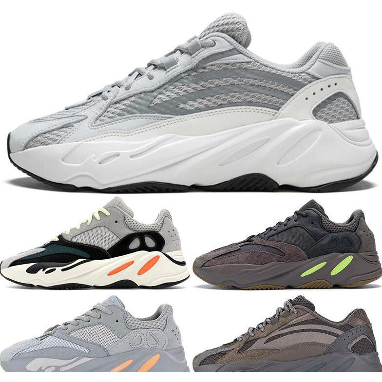 Kanye West Wave Runner Boosts Adidas Yeezy 700 V2 Static Inertia Mauve Solid Grey Shoes Men's Shoes Women sneakers