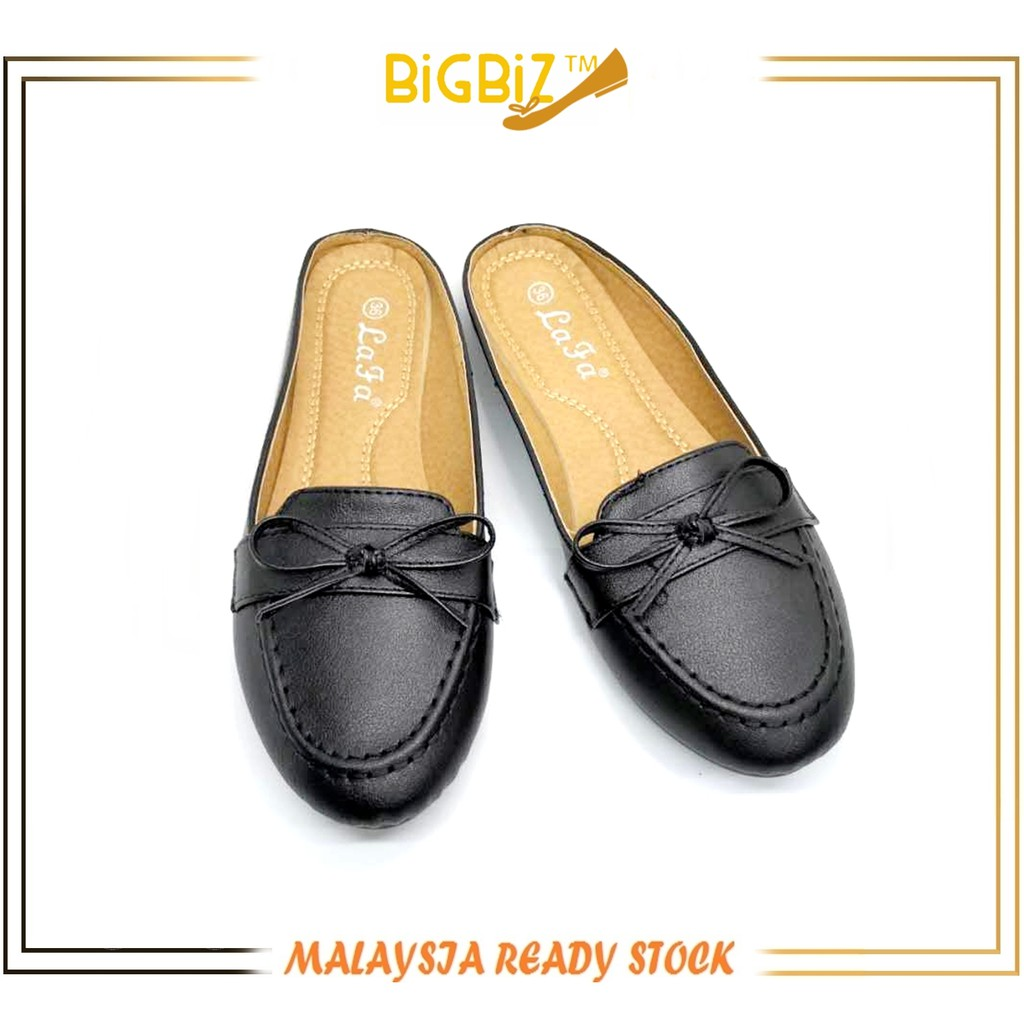 Ready Stock Half Cover Rounded Toe Lady Casual Shoe by BigBiz