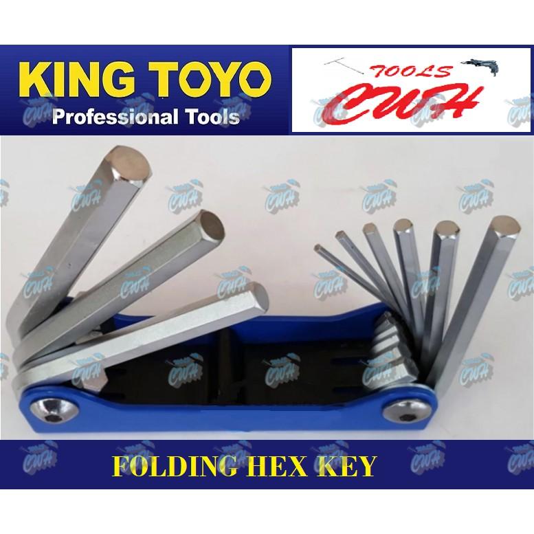 King Toyo KT-F9H Folding Hex Key Wrench Set- -------------------- - - -- - - -STANLEY SATAGOOD TOPTUL BONDHUS SATA MRMAR