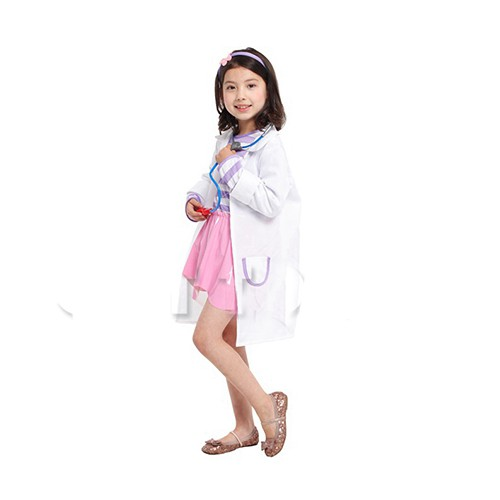 Pretty Doctor Role Play Pretend Play Occupation Costume 4-8y
