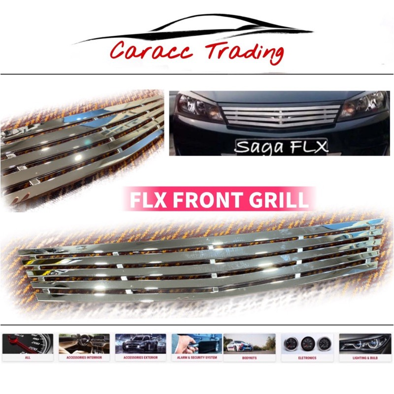 Saga Flx Front Grill (Abs)