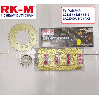 RKM CHAIN SPROCKET 415 (122 Long) for LC135 Y125 LAGENDA 110