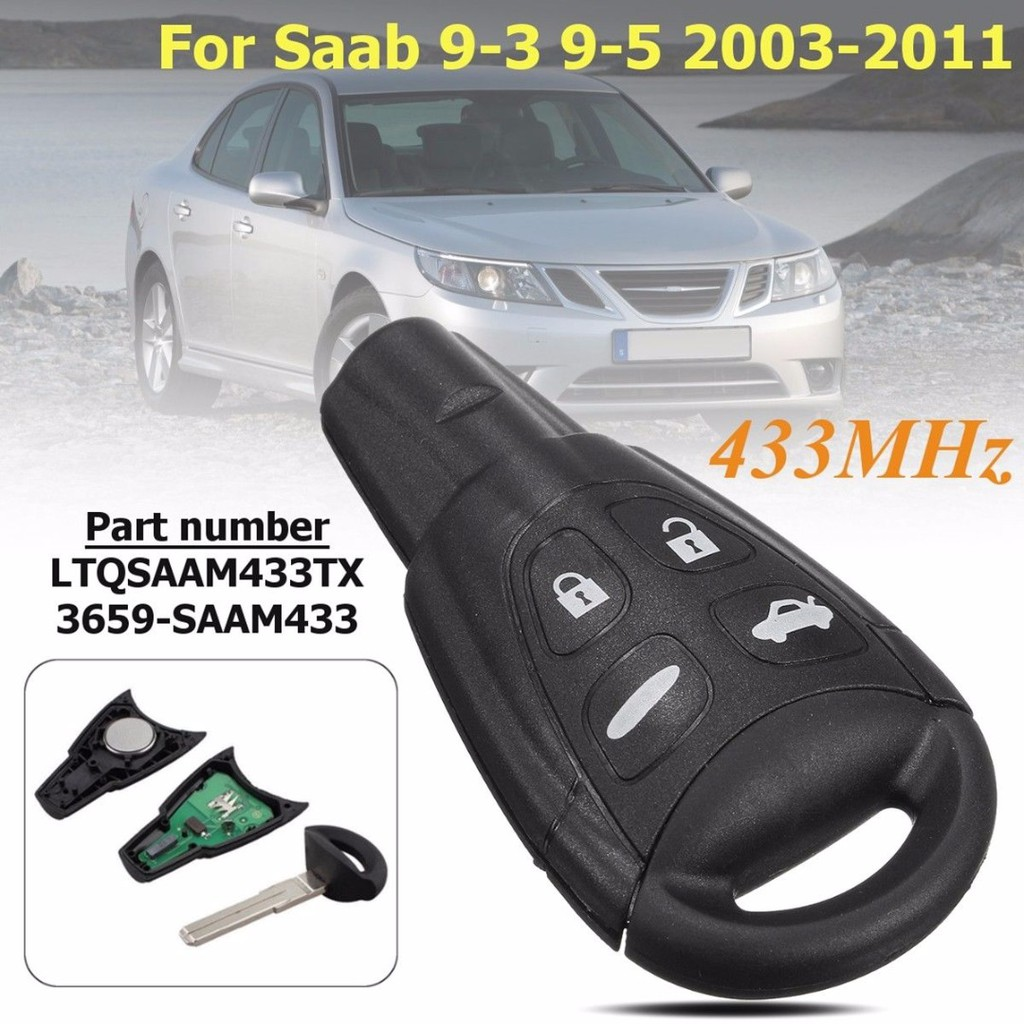Key Fob Keyless Entry Smart Remote Shell Case /& Pad fits Toyota