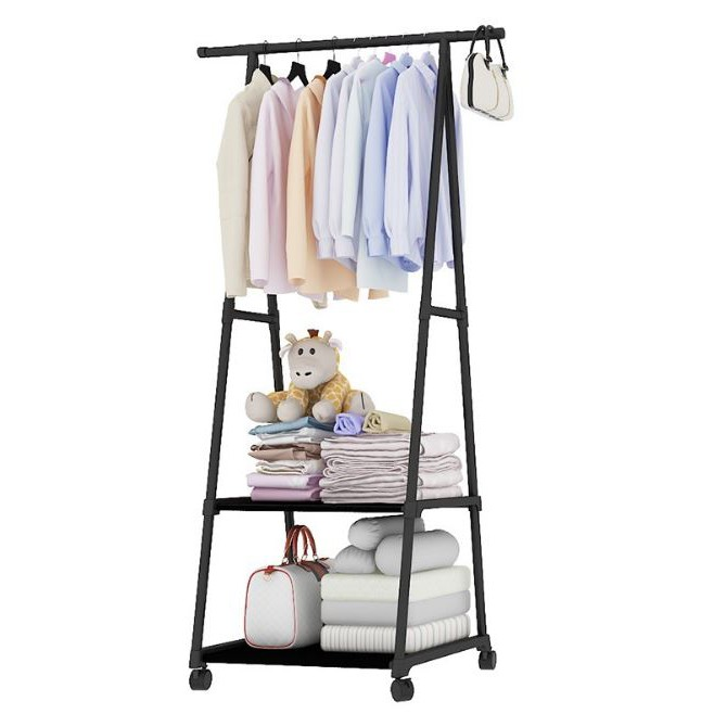 Multipurpose Bedroom Clothes Garment Organizer Rack with Wheels
