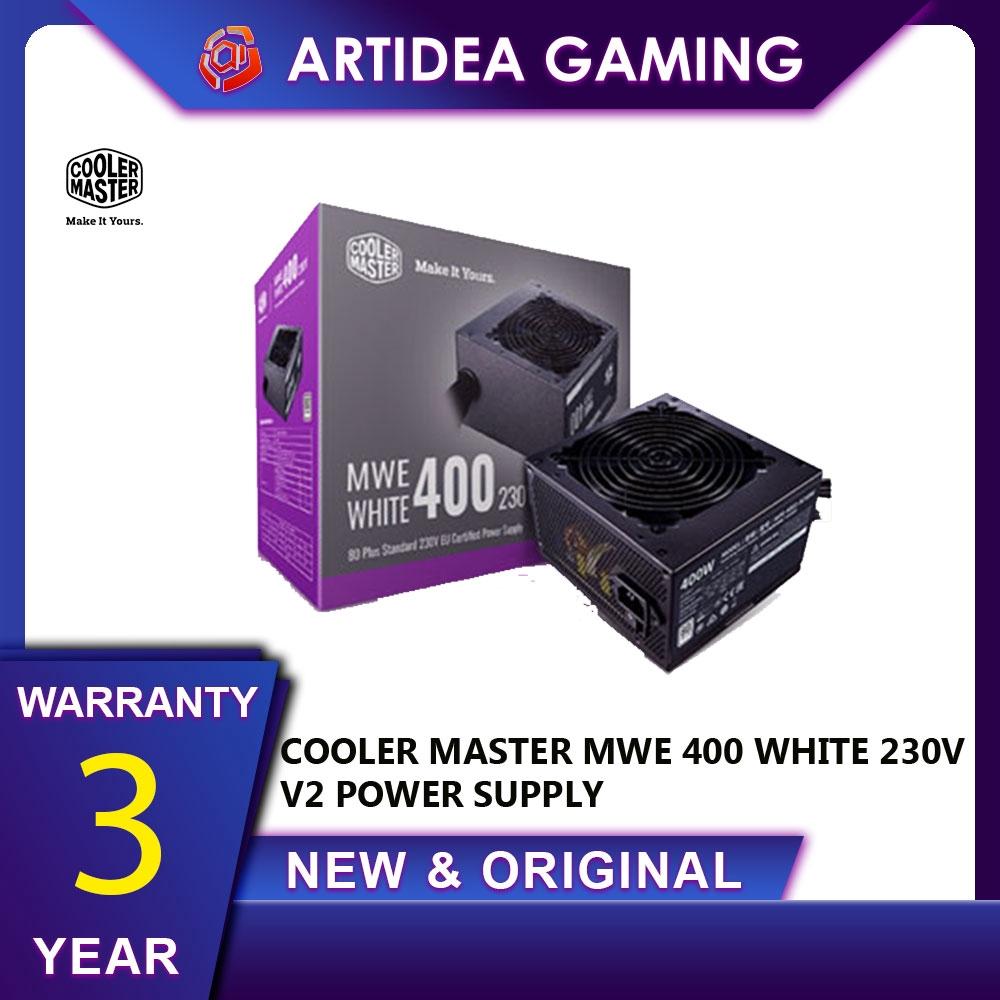 Cooler Master 400W ATX Power Supply Active PFC//80 PLUS White MWE 400 230V V2