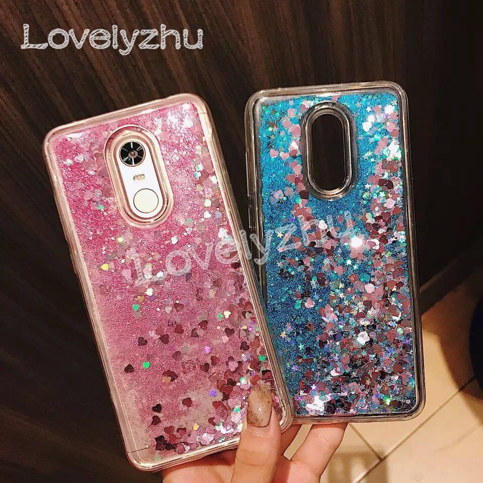 Huawei Honor 5X/GR5 6X/GR5 2017 7X 8 9 10 Shiny Glitter Liquid Quicksand Cover