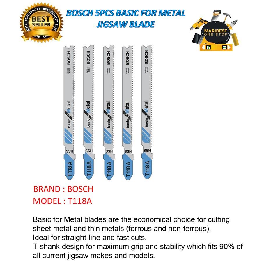 Mata Jigsaw Untuk Metal Bosch T118a Daftar Harga Terbaru Dan T318bf Flexible For Murah Source T101b 5pcs