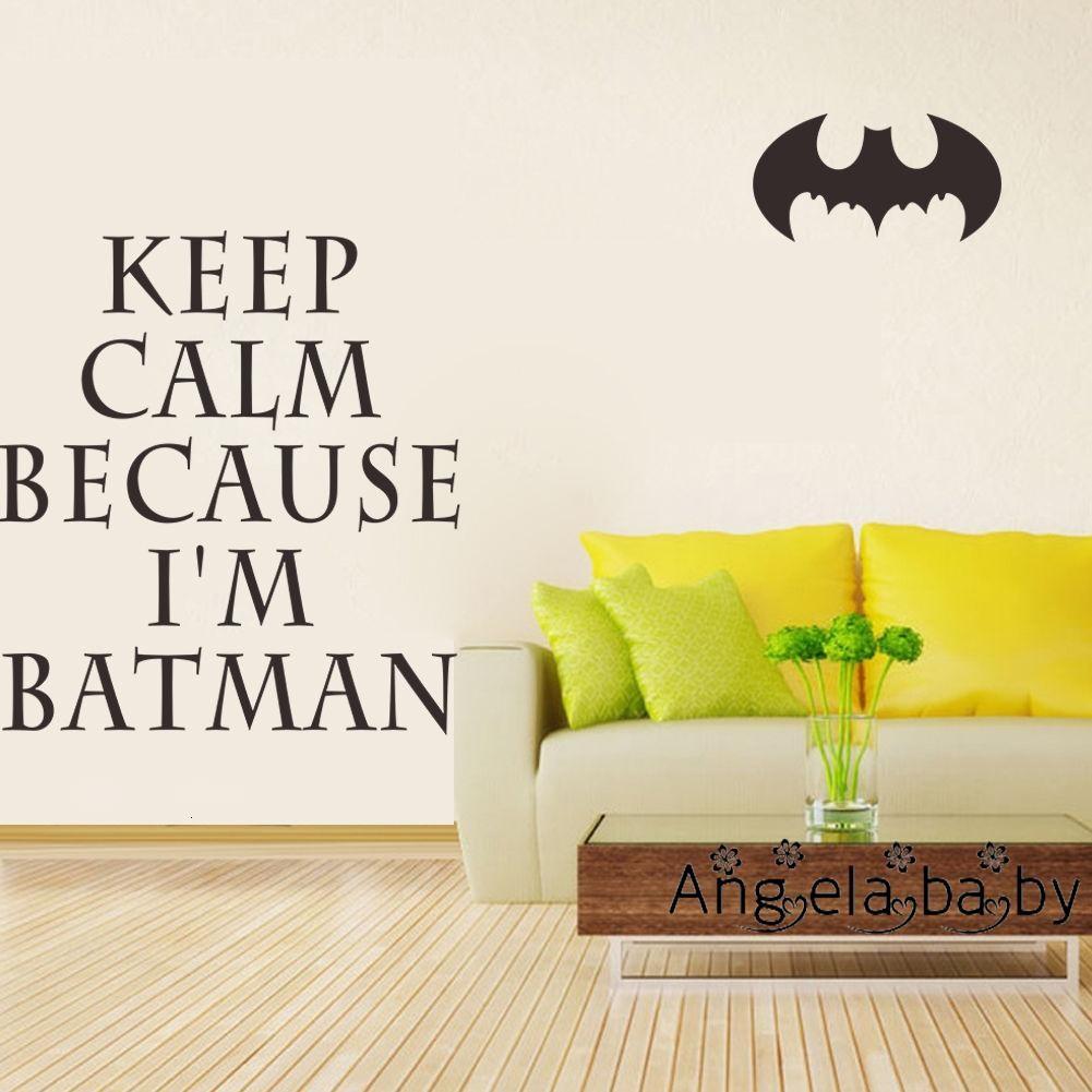 I'm Batman Keep Calm Vinyl Wall Art Quotes Kids Bedroom Baby ...